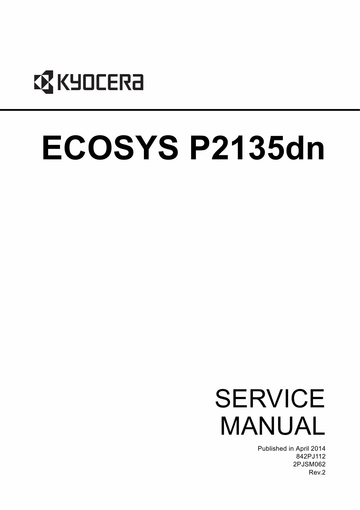 kyocera ecosys p2135dn service manual